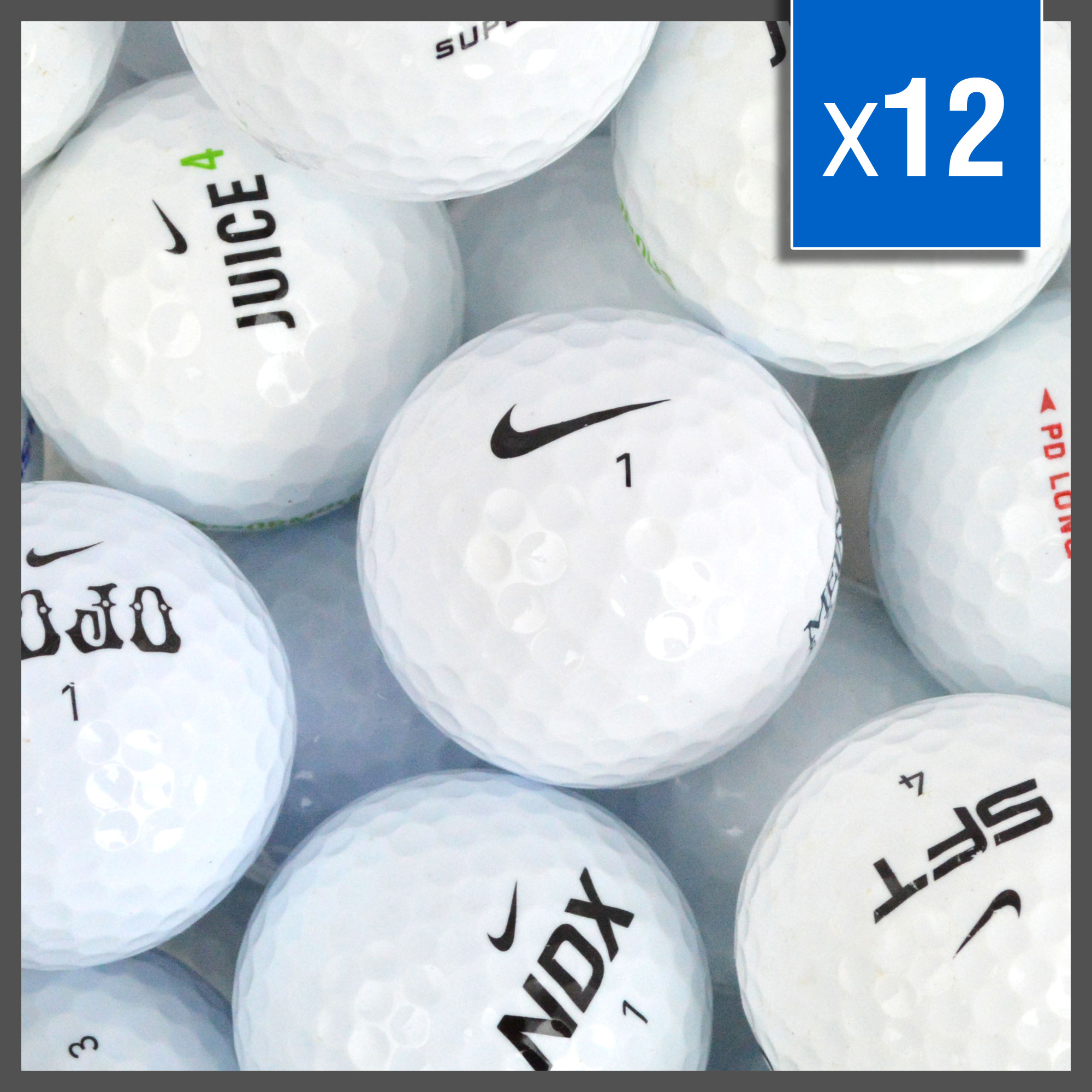 Image of   Nike Golf Balls Mix - Grade A - 12 stk
