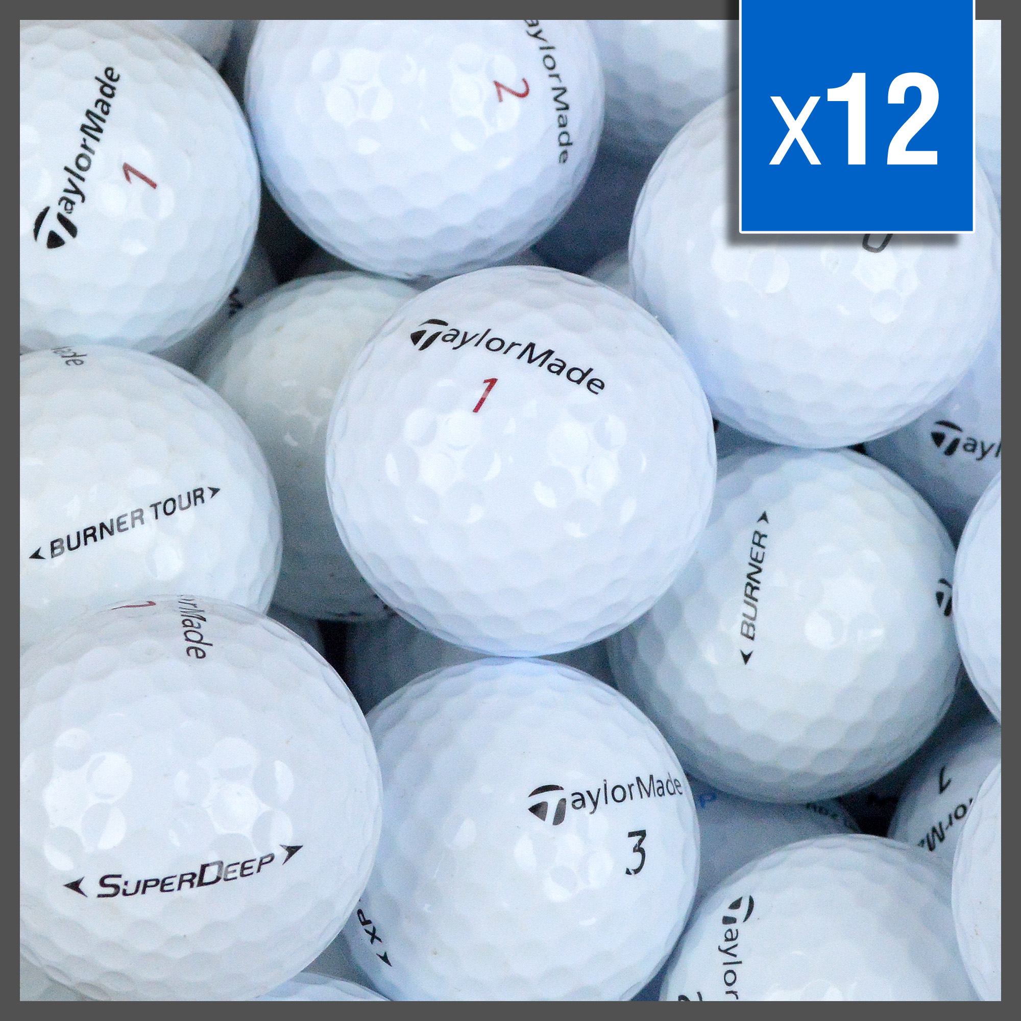 Image of   Taylormade Golf Balls Mix - Grade A - 12 stk