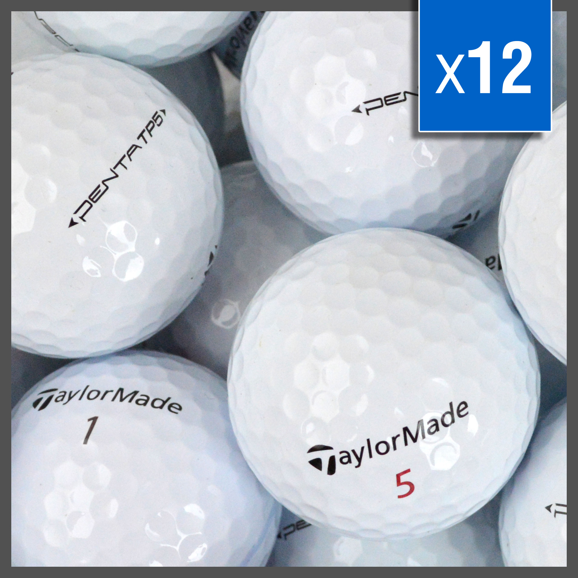 Image of   Taylormade TP Red / Black golfbolde - Grade A - 12 stk