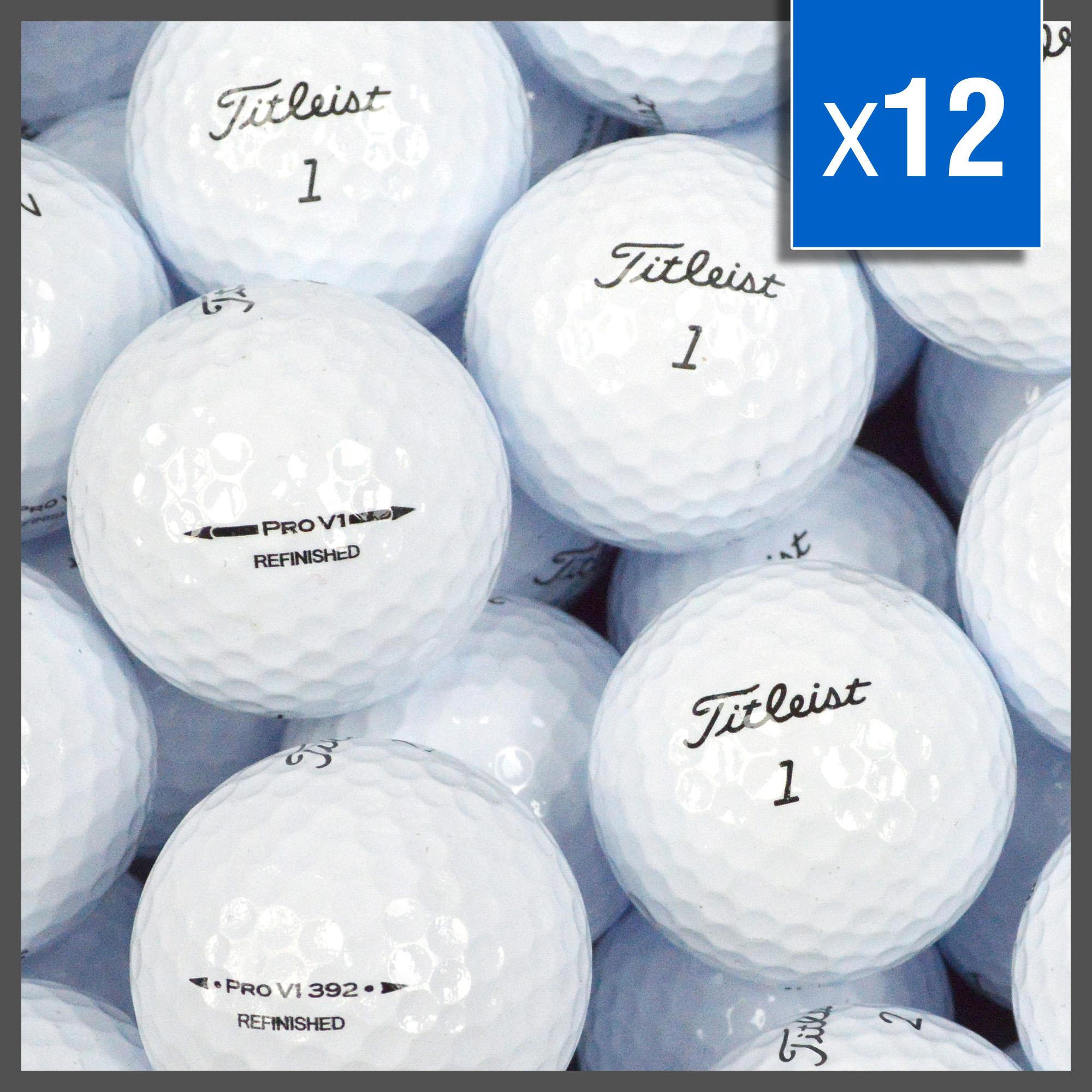 Image of   Titleist Prov 1 golfbolde - Refinished - 12 stk