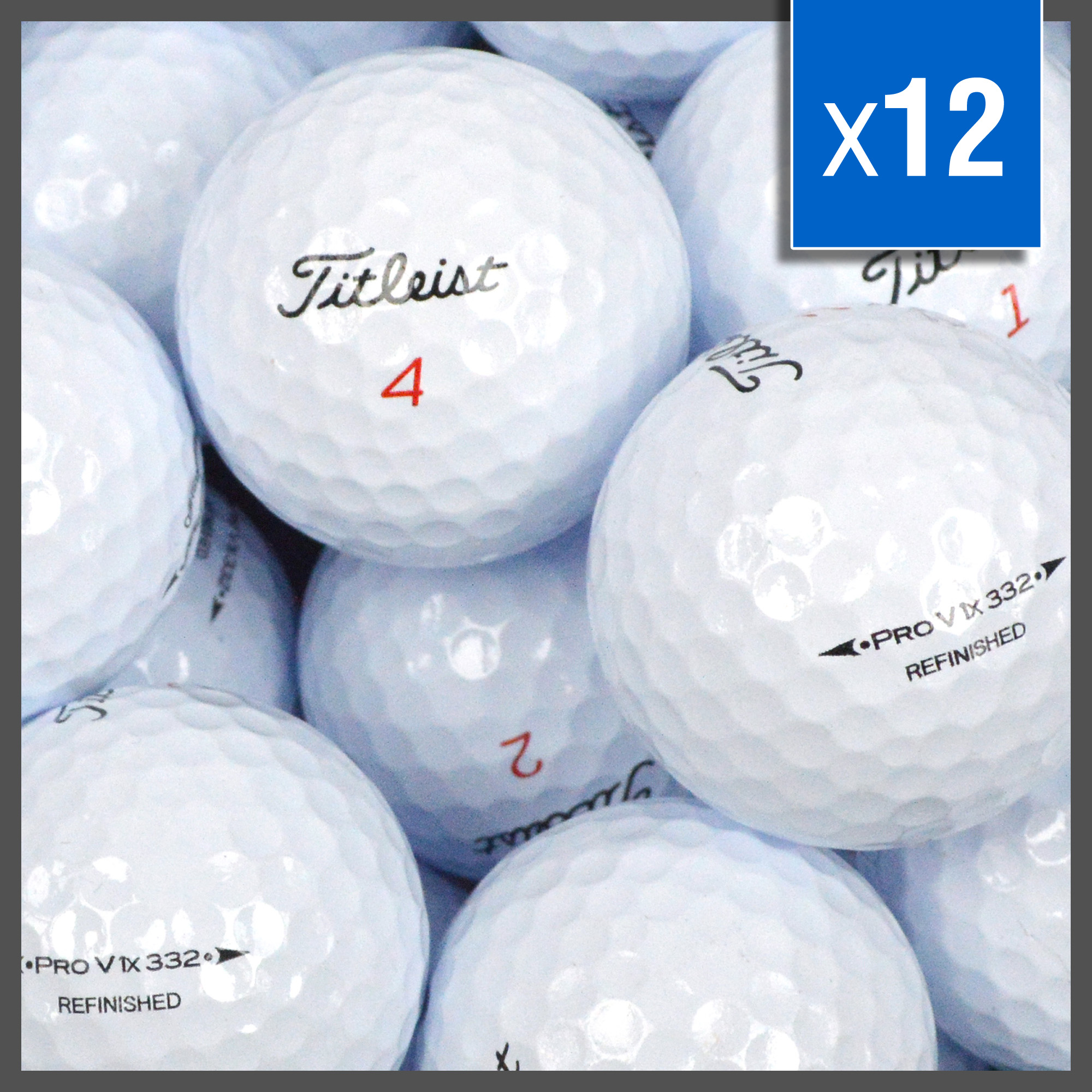 Image of   Titleist Prov 1 X golfbolde - Refinished - 12 stk