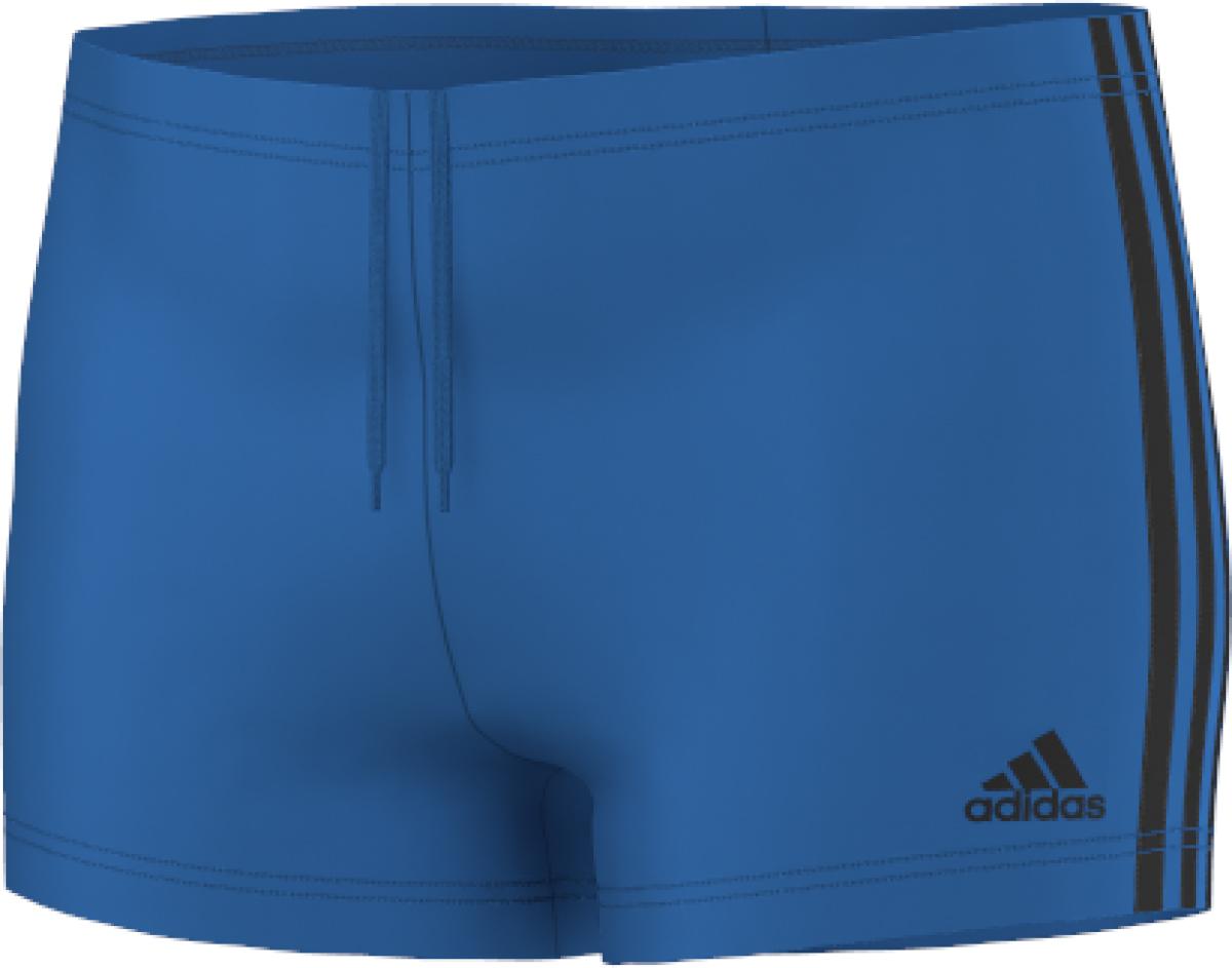 Image of   Adidas 3 Stripes Boxer Swim Shorts Män - Shock Blue / Black - 8