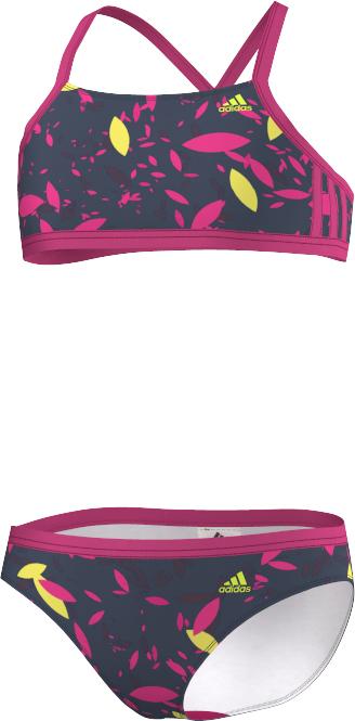 Image of   Adidas 3 Stripes två stycken Bikini - EQT Rosa / Mineral Blå / Mineral Röd / Solar Yellow