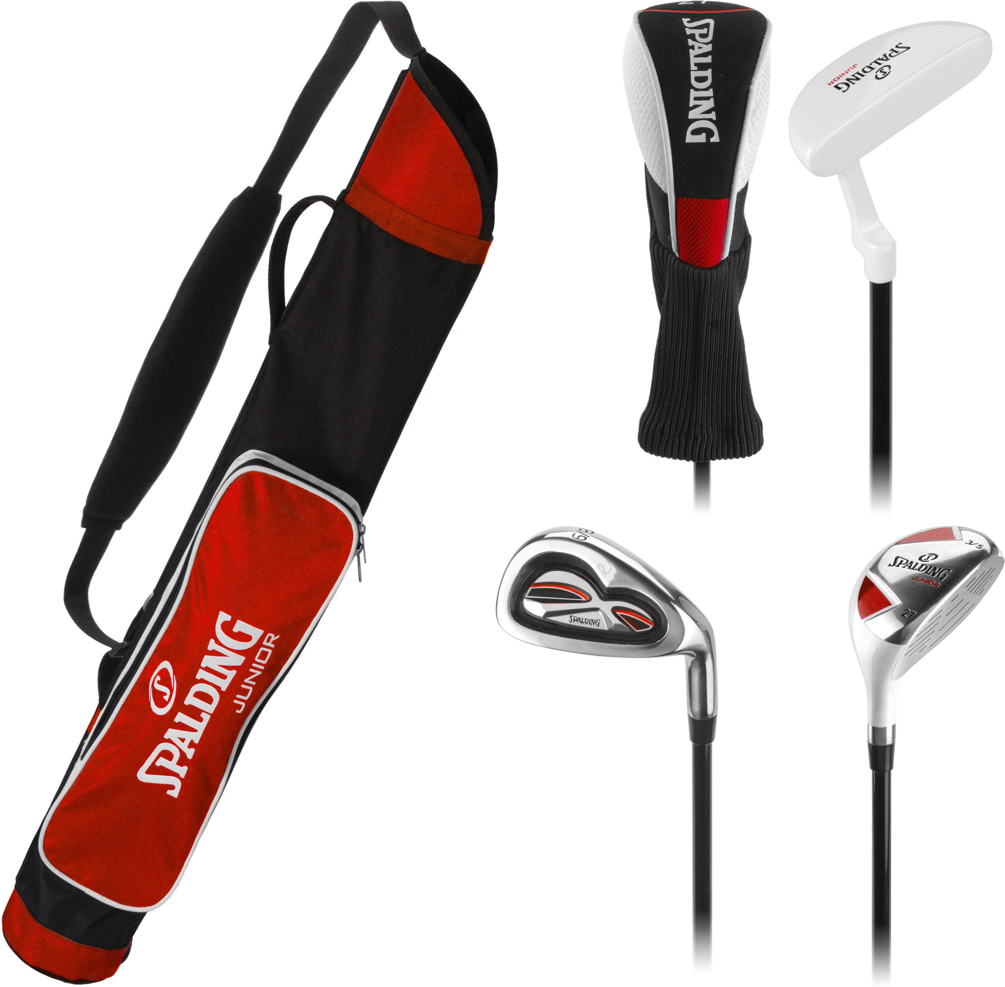 Image of   Spalding Junior Golf Set - Alder 7-10 - Rød