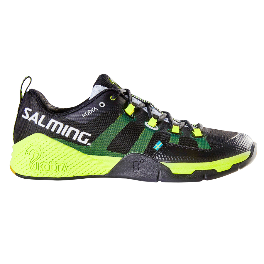 Image of   Salming Kobra Indoor Shoes - Men - Black / Yellow - 46