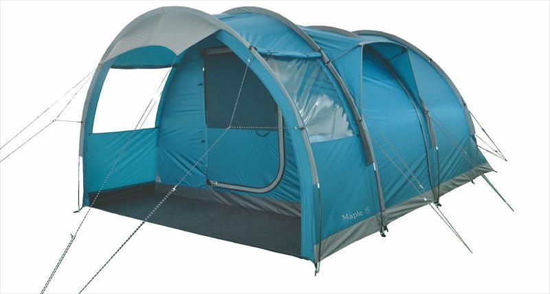 Highlander Maple 5 Tent - Blauw - Grijs