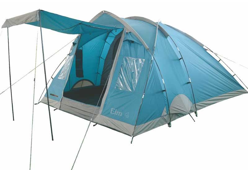 Highlander Elm 4 Tent - Blauw - Grijs
