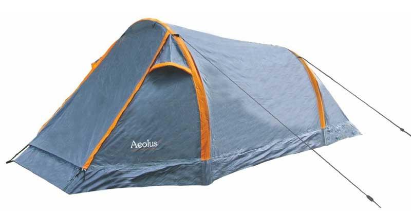 Highlander Aeolus 2 Tent - Grijs - Oranje