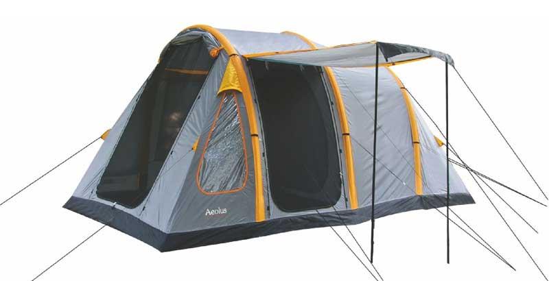 Highlander Aeolus 4 Tent - Grijs - Oranje