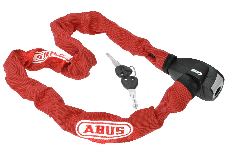 Image of   Abus Ionus 6800 Kæde Lås - 6 mm / 85 cm - Rød