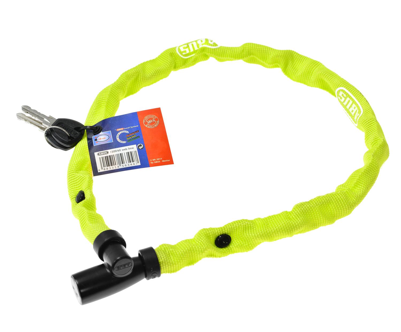 Abus Web 1500 Chain Lock - 4 mm / 60 cm - Lime