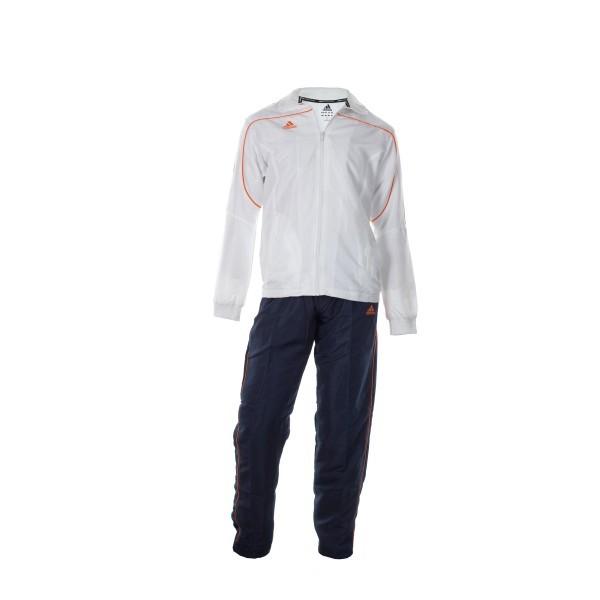 Billede af Adidas Trainingsjacket - Junior - Hvid / Orange - 164
