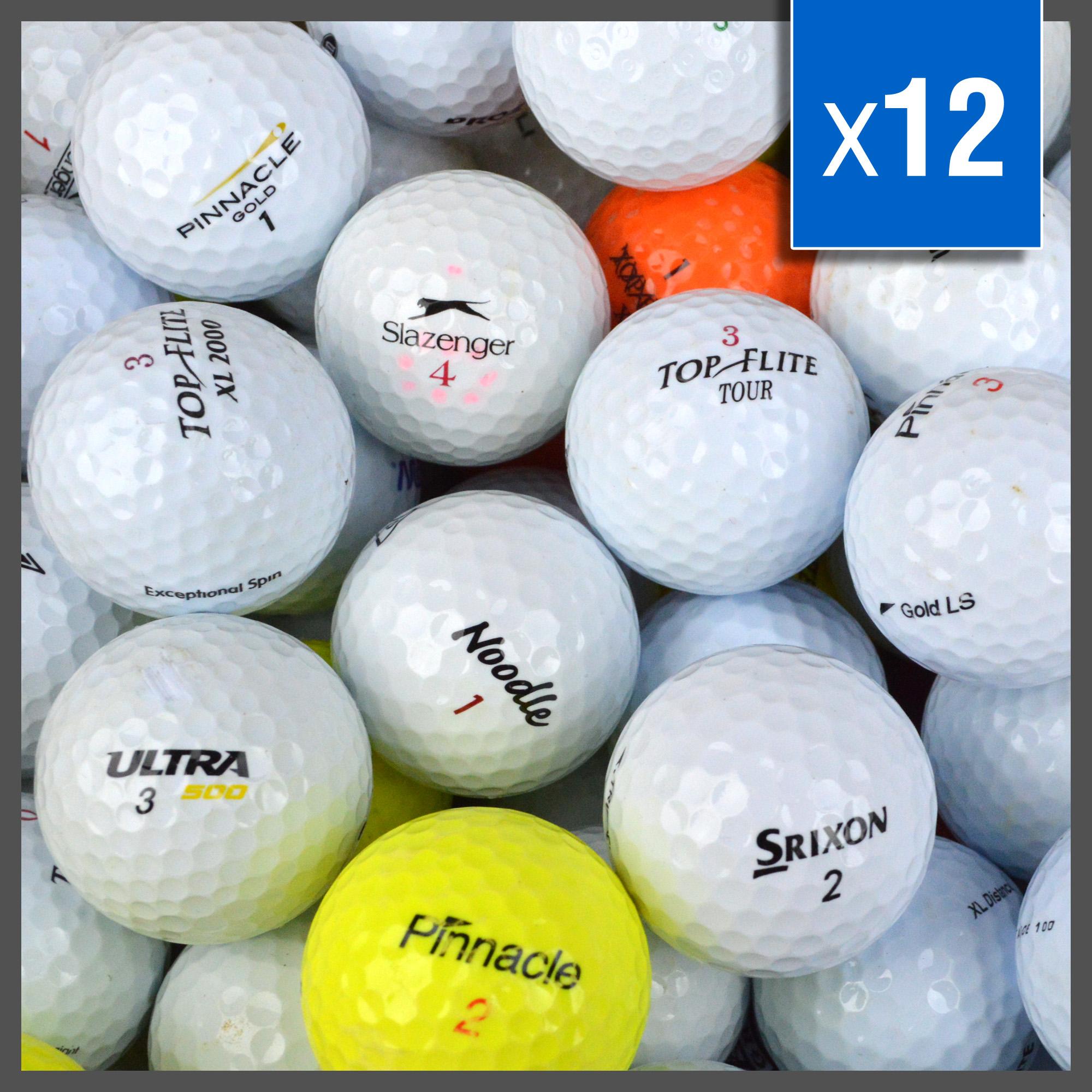 Image of   Multibrand Practice golfbolde - Grade B - 12 stk