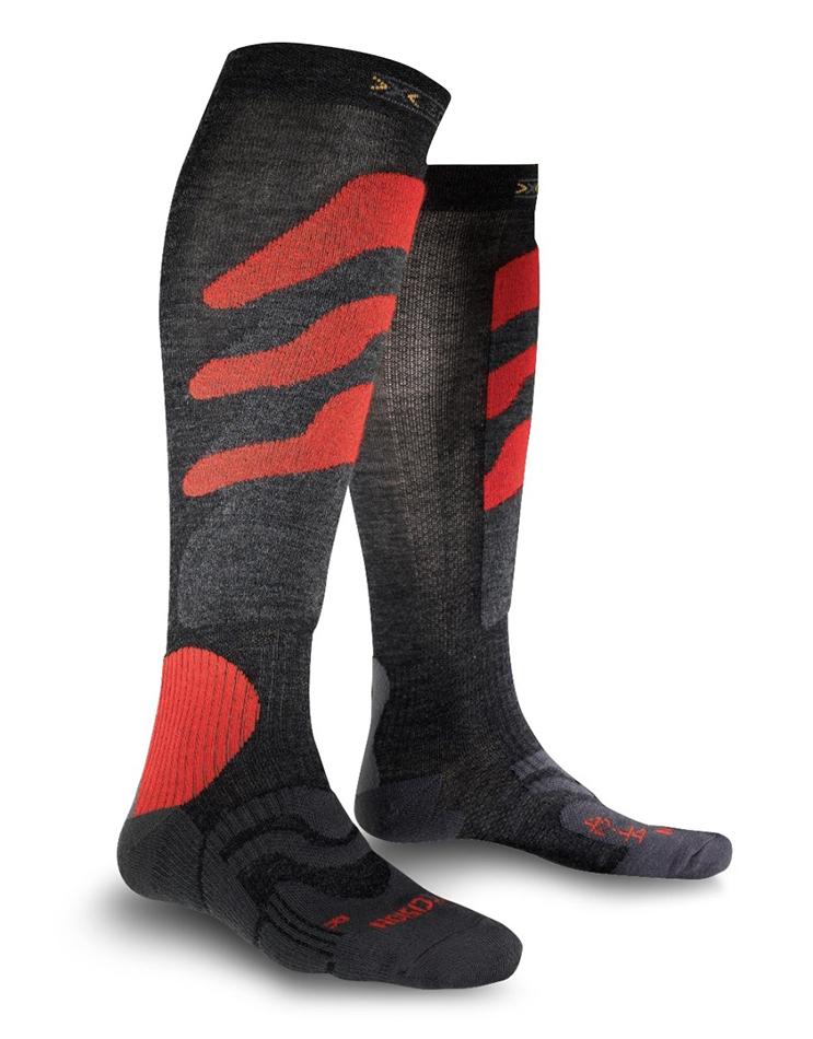 Image of   X-Socks Precicion Ski Mænd - Antracit / Rød