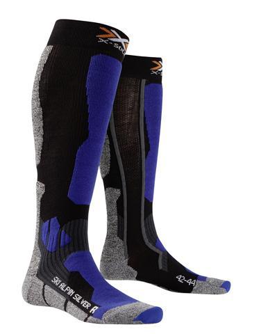 Image of   X-Socks Silver Ski Alpin Mænd - Sort / Cobalt Blå