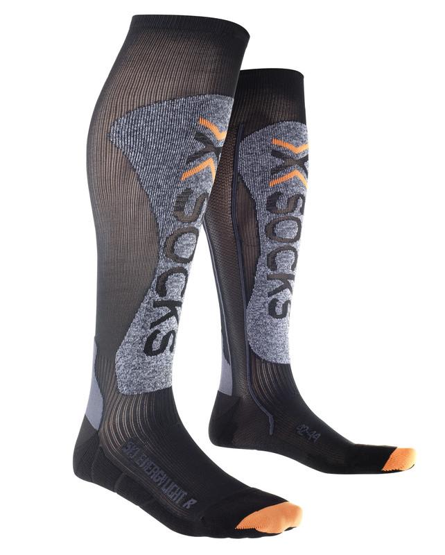 Image of   X-Socks Energizer Ski Light mænd - Sort / Melange - 45-47