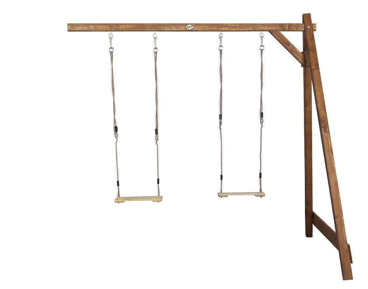 Image of   AXI Double Swing Brown Vægbeslag