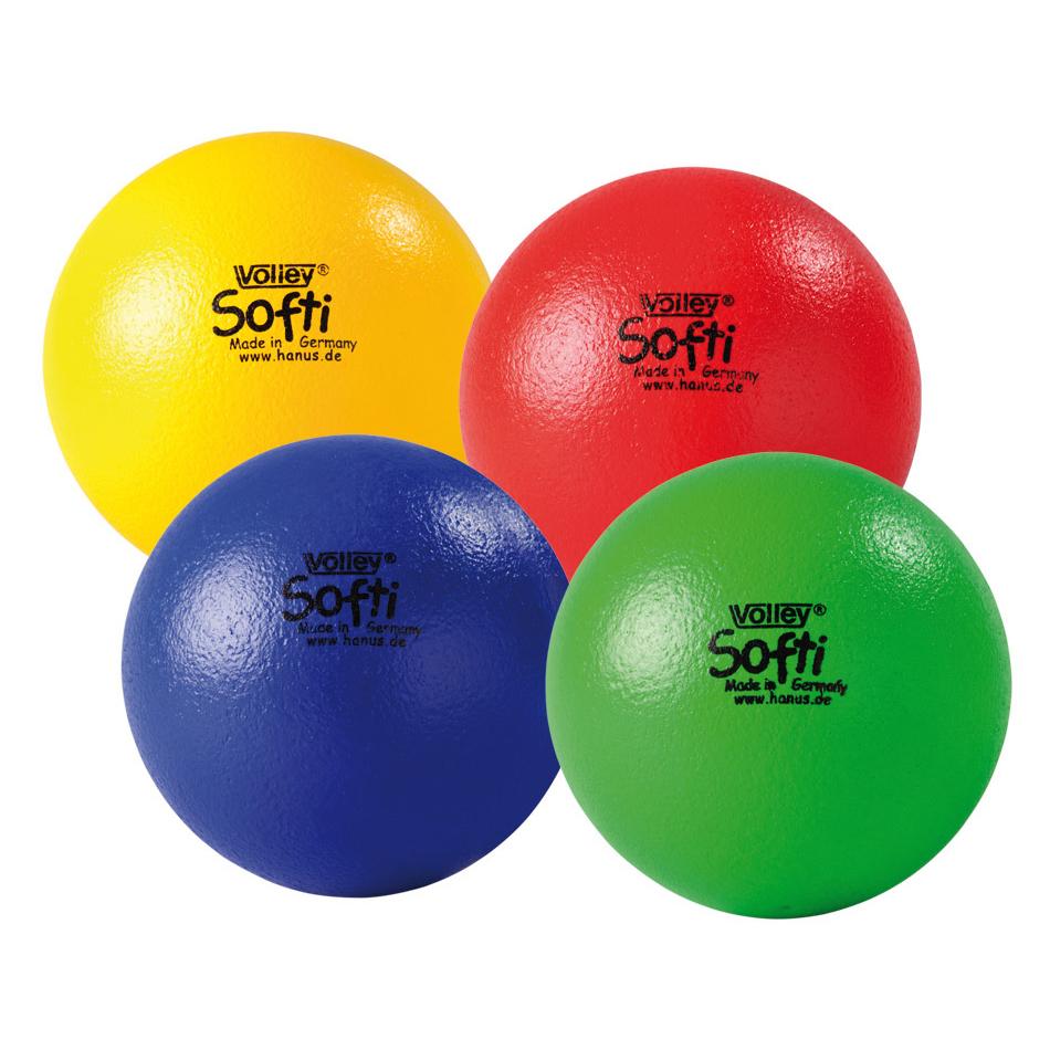 Image of   Volley ELE Soft Foam Ball - 160 mm - 65 g - Gul