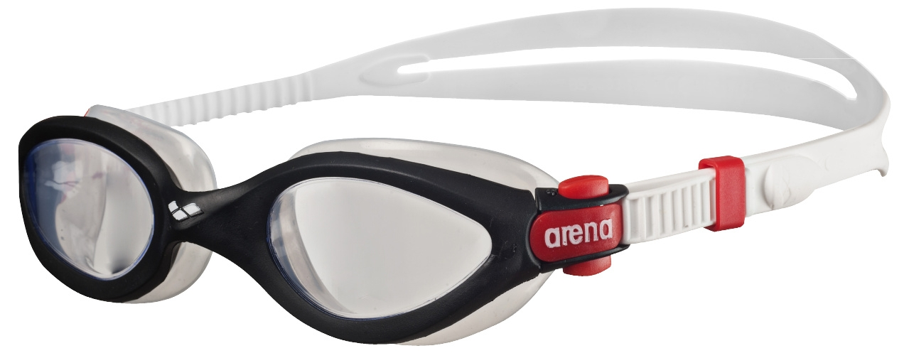 Imax 3 Zwembril Transparant-Zwart-Rood