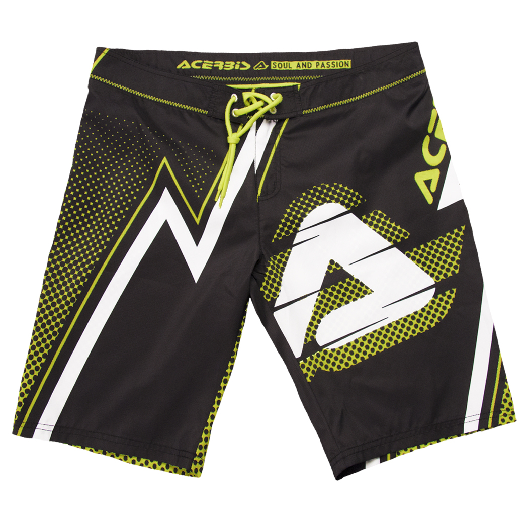 Image of   Acerbis SP Club Swimming Trunks - Black / Gul