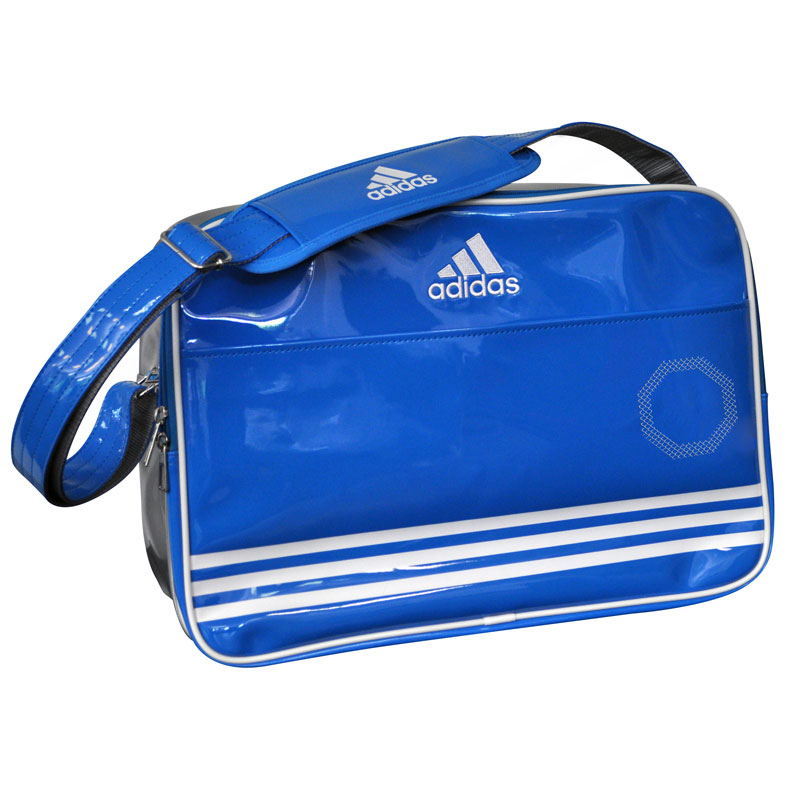 adidas Shiny - Sporttas - Blauw/Wit/Zilver Large