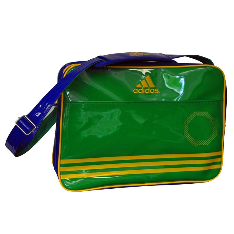 Image of   Adidas Shiny Sports Bag - Grøn / Blå / Gul