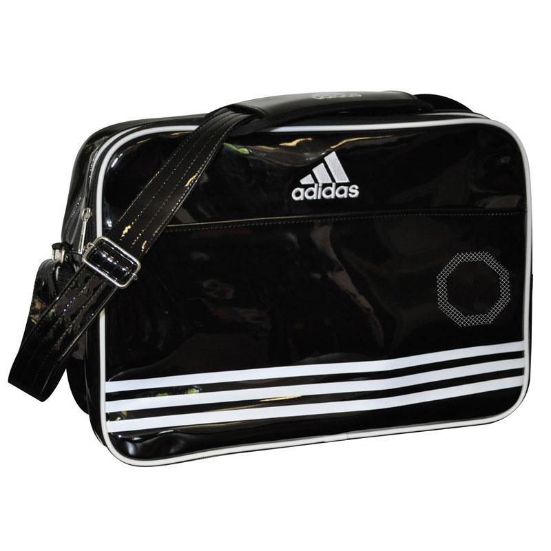 adidas Shiny - Sporttas - Zwart/Wit Large