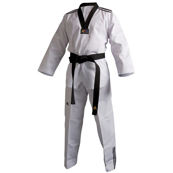 Adidas Taekwondopak Club --- Zwarte Revers