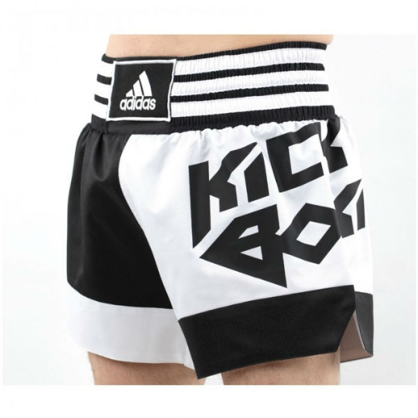 Image of   Adidas Energy Thai Kickbox Short - Herre - Black / Hvid - XL