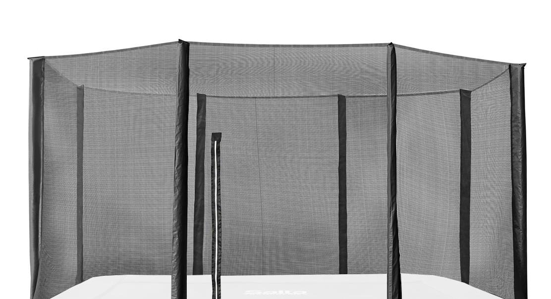 Image of   Salta 7 x 10 ft disport sikkerhedsnet for en Trampolin rektangel - 215 x 305 cm - Sort