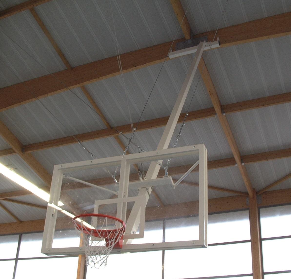 Image of   Basketball Konkurrence Bagplade - Methakrylat - Rektangulær - 1800 x 1050 x 20 mm
