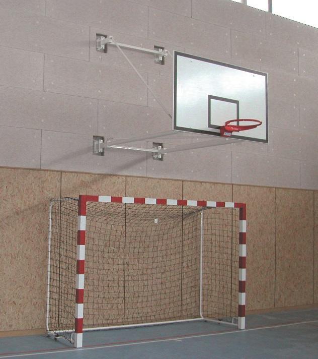 Image of   Basketball Goal Wall-monteret - Justerbar højde - Udhæng 1,5-4,5 m