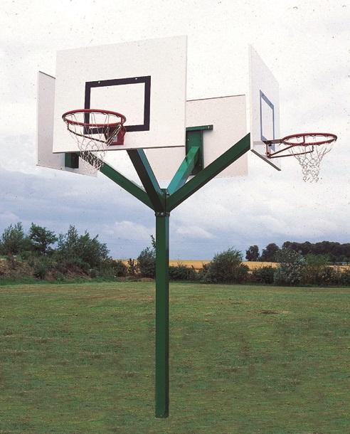 Image of   Basketball 4 Heads Tower Galvaniseret - 3,05 m - Monteringsplade - Udhæng 1,0 m