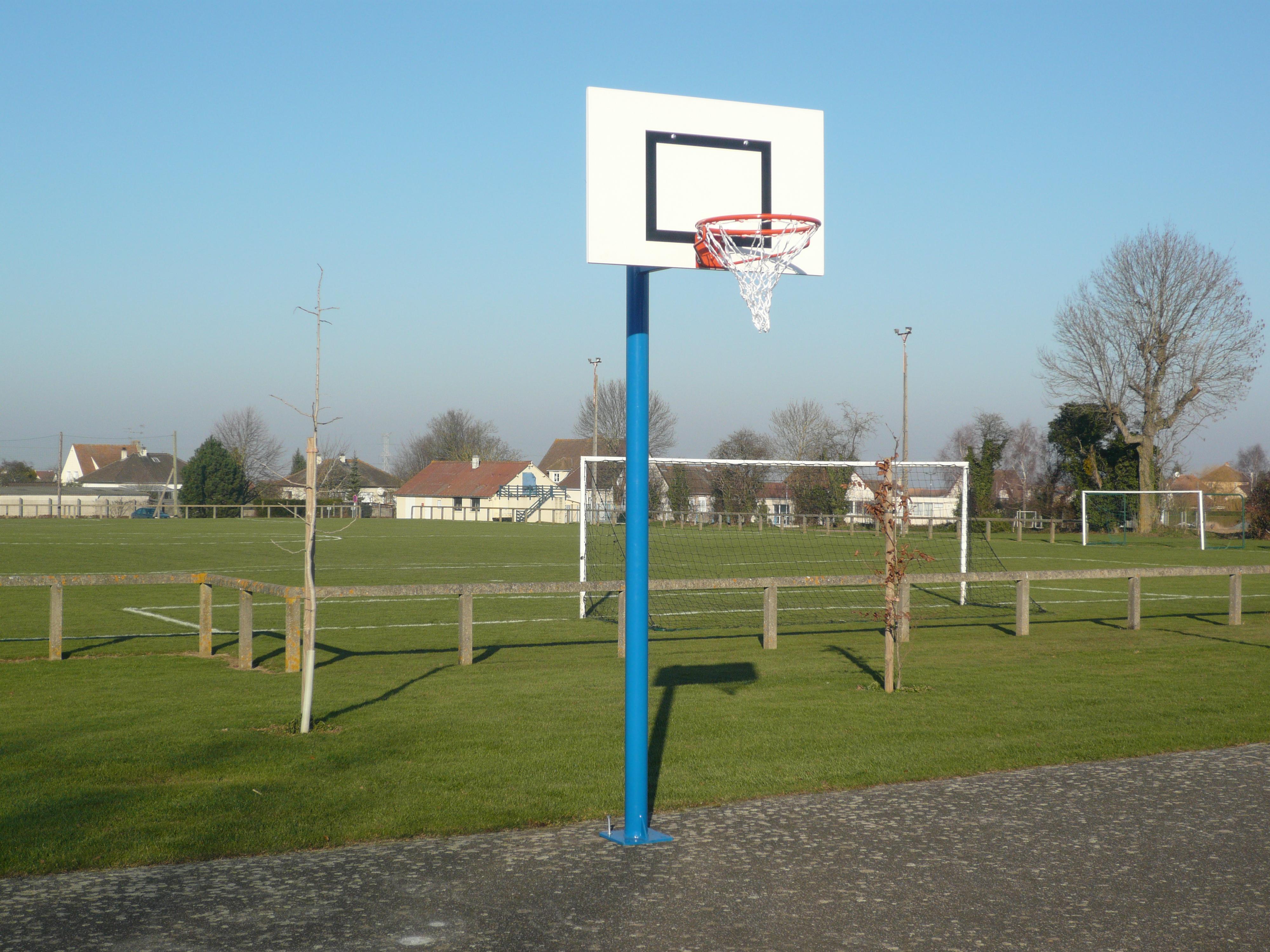 Image of   Basketball Goal galvaniseret - 2,60 m - Monteringsplade - Udhæng 0,6 m