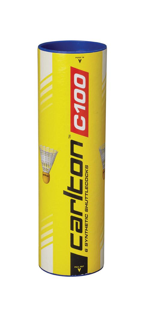 Carlton Club C100 Nylon Badminton Shuttles - 6 stuks