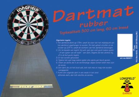Dartmat rubber