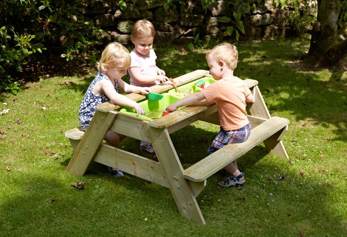 TP Picknick Tafel zandbak voor 4 JOY spelende kinderen