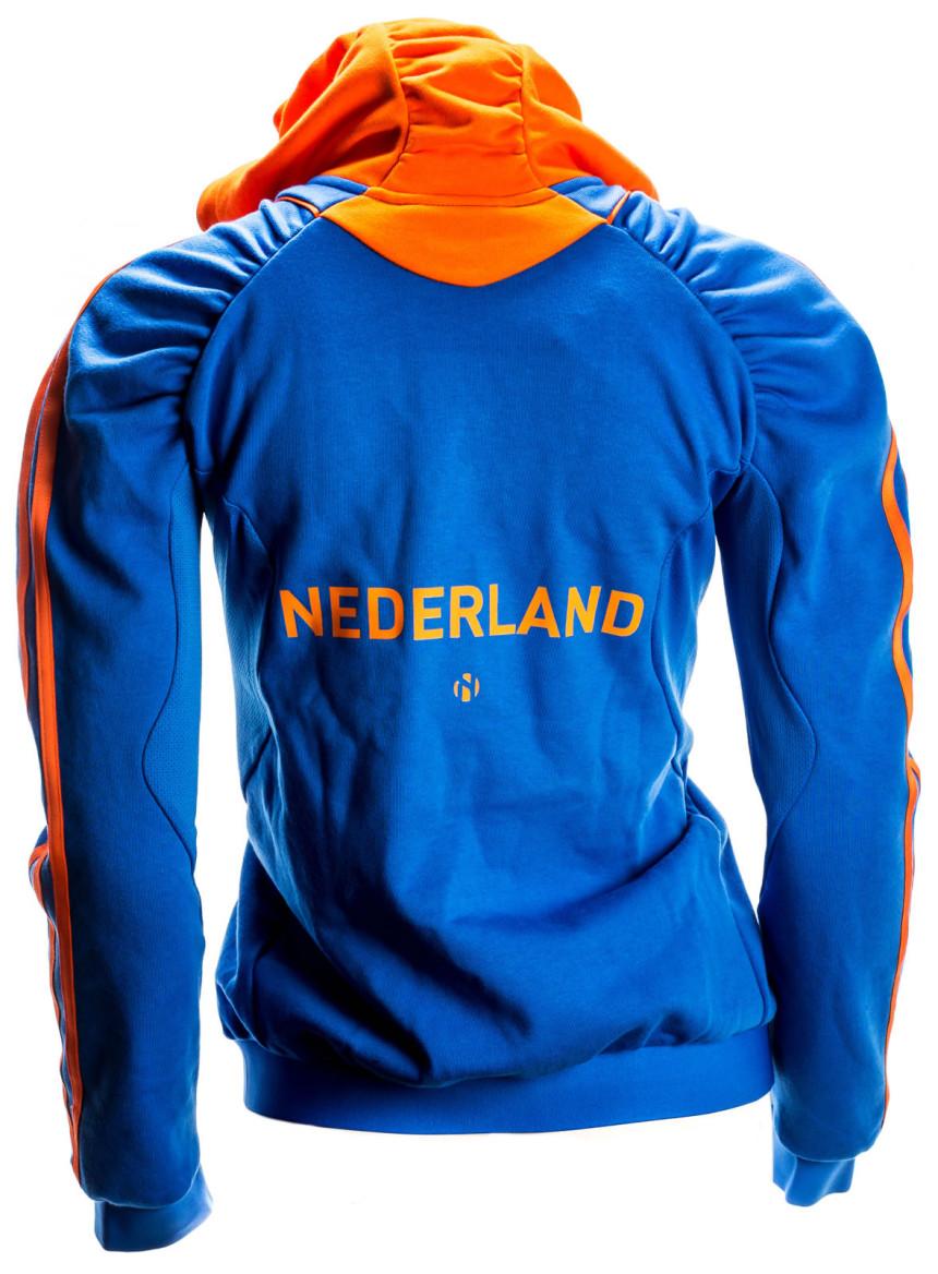 Adidas Team Nederland Hoodie Dames Oranje Blauw 36