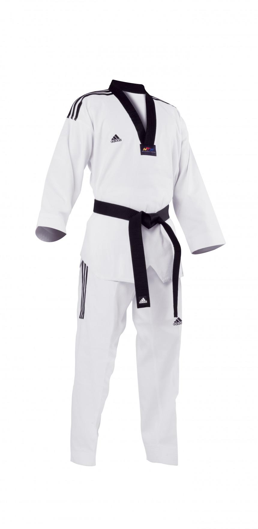 f89c01c7034 Adidas Grand Master Taekwondo Pak - Zwarte Kraag kopen - Justathlete.nl