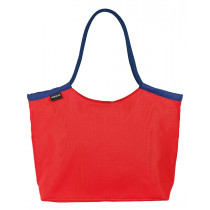 Beco Beach Bag - Red / Navy