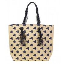 Beco Beach Bag - Beige / Blue