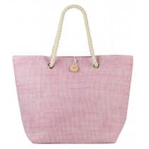 Beco Beach Bag - Pink / White