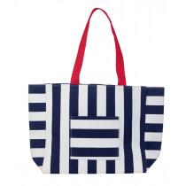 Beco Beach Bag - Navy / White
