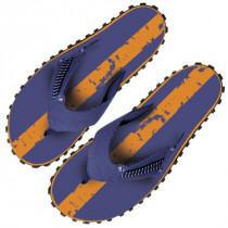 Beco Flip Flops - Orange / Navy - Men