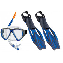 Beco Porto DX 3.0 Snorkel Set And Fins - Blue