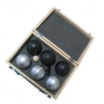 Jeu De Boules 6 Bals In Luxe Kist Zwart/ Antraciet