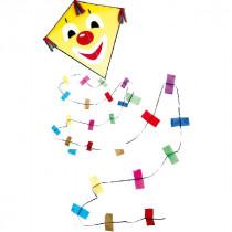 Rhombus Clown Diamant Vlieger Maat S