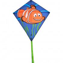 HQ Diamond Eddy Eenlijnsvlieger - Clownfish