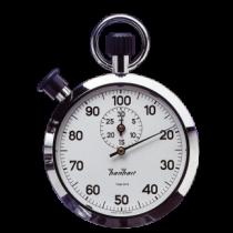 Hanhart - Mechanische Stopwatch - 1/100 sec - Chrome