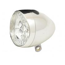 Ikzi Fiets Voorlicht - 3 LED - Chroom